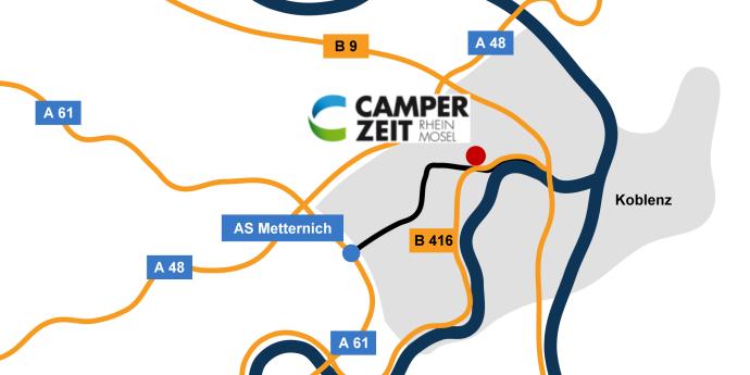 Anfahrtskizze Camper-Zeit